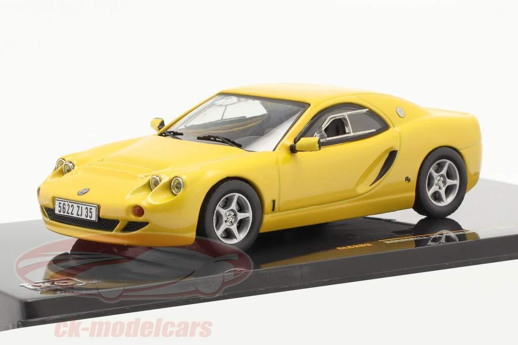 Hommell RS Berlinette Jaar 1999 geel 1:43 Ixo