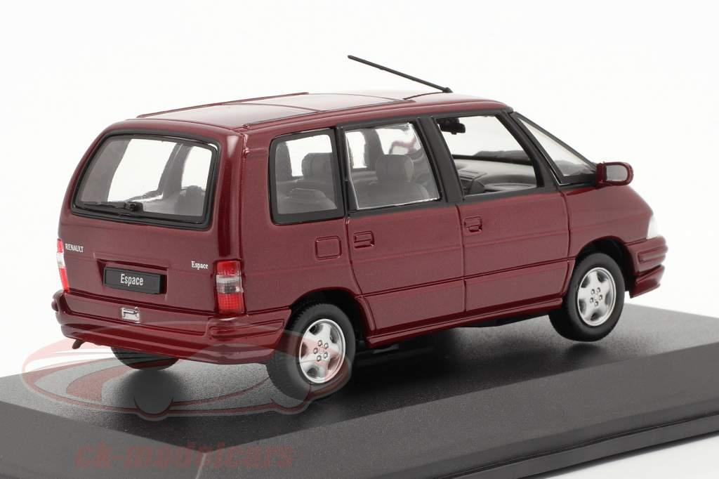 Renault Espace Anno 1992 malaga rosso metallizzato 1:43 Norev