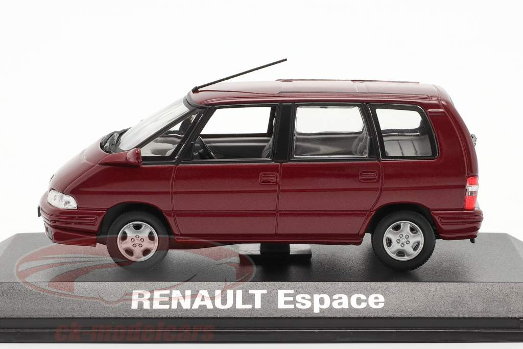 Renault Espace Ano 1992 malaga vermelho metálico 1:43 Norev