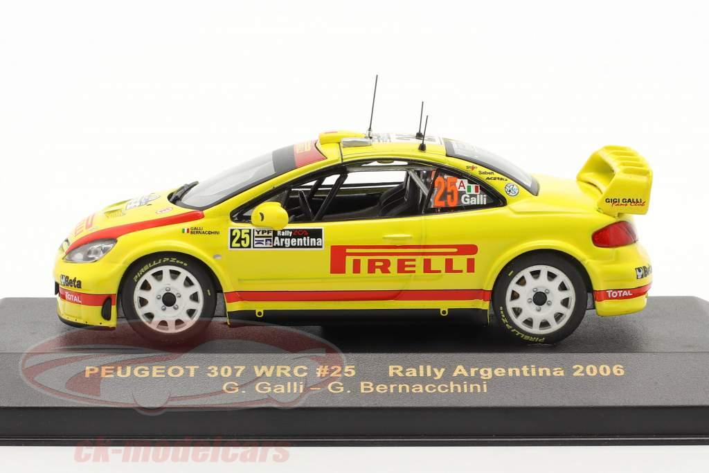 Peugeot 307 WRC n º 25 Rally Argentina 2006 1:43 Ixo