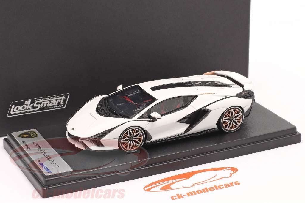 Lamborghini Sian FKP 37 Byggeår 2019 monocerus hvid 1:43 LookSmart