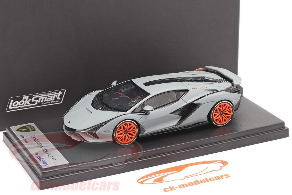 Lamborghini Sian FKP 37 Año de construcción 2019 estera gris 1:43 LookSmart