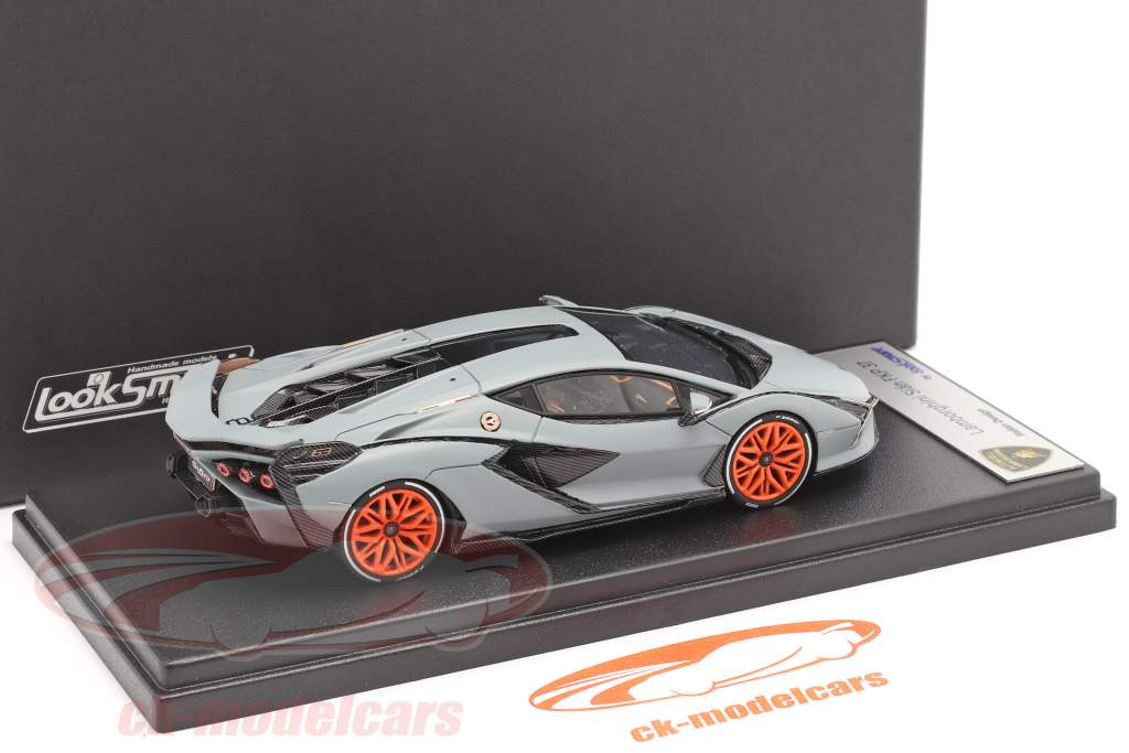 Lamborghini Sian FKP 37 Année de construction 2019 tapis gris 1:43 LookSmart