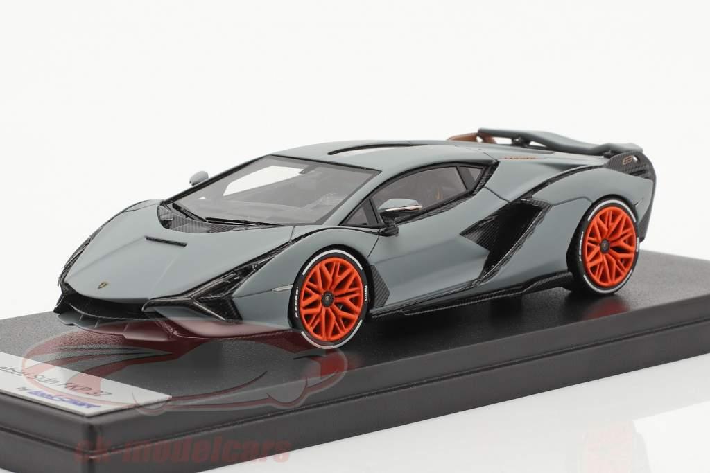 Lamborghini Sian FKP 37 Bouwjaar 2019 mat grijs 1:43 LookSmart