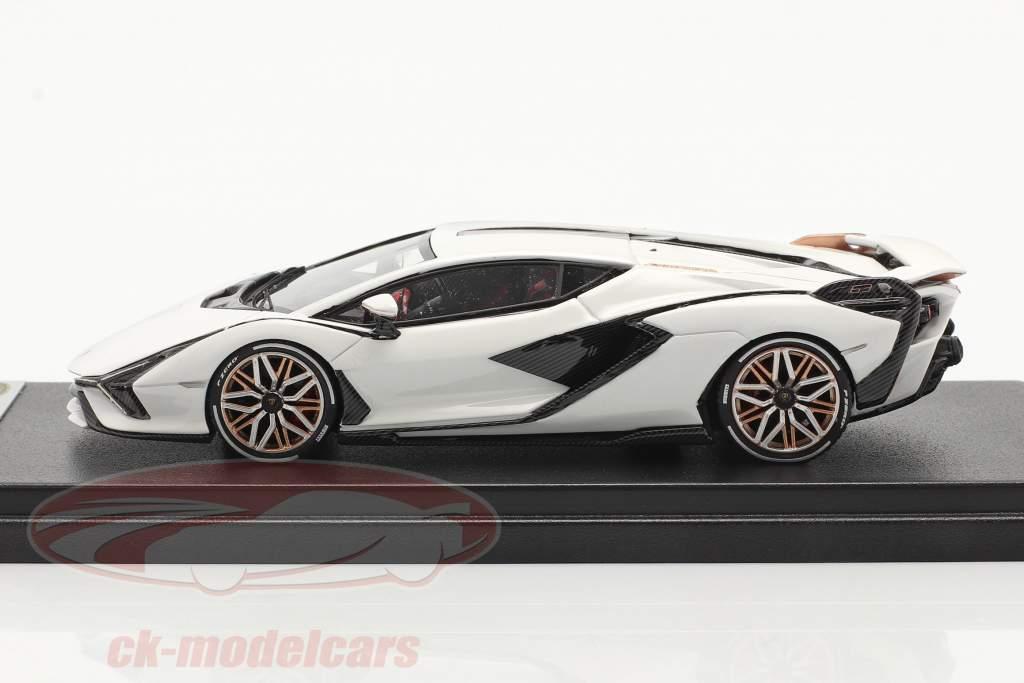 Lamborghini Sian FKP 37 Bouwjaar 2019 monocerus Wit 1:43 LookSmart