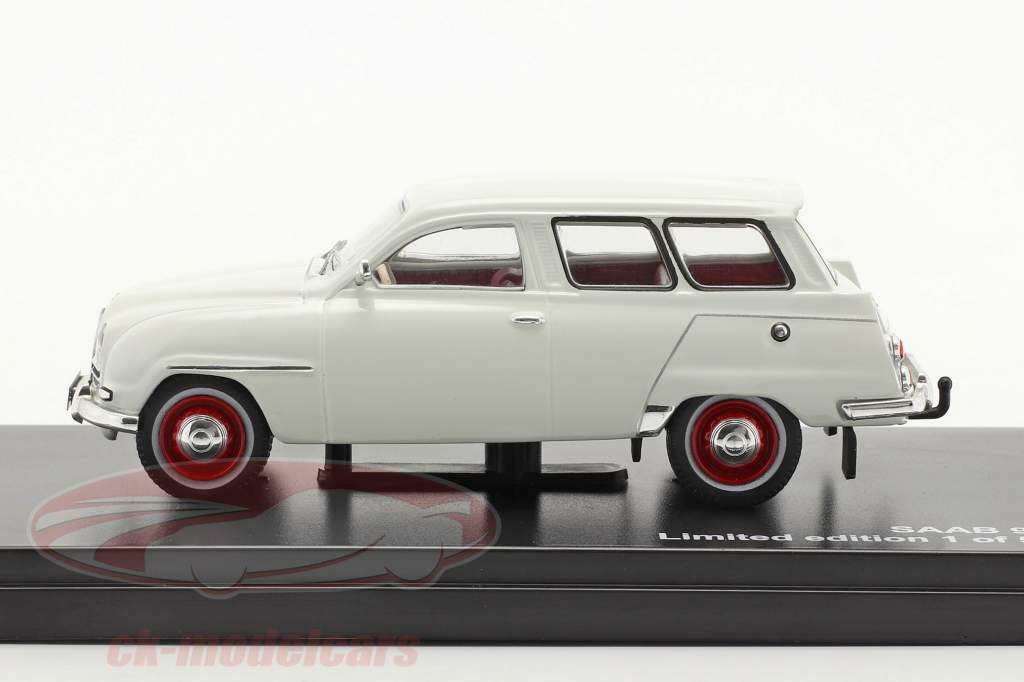 Saab 95 jaar 1961 wit 1:43 Triple9