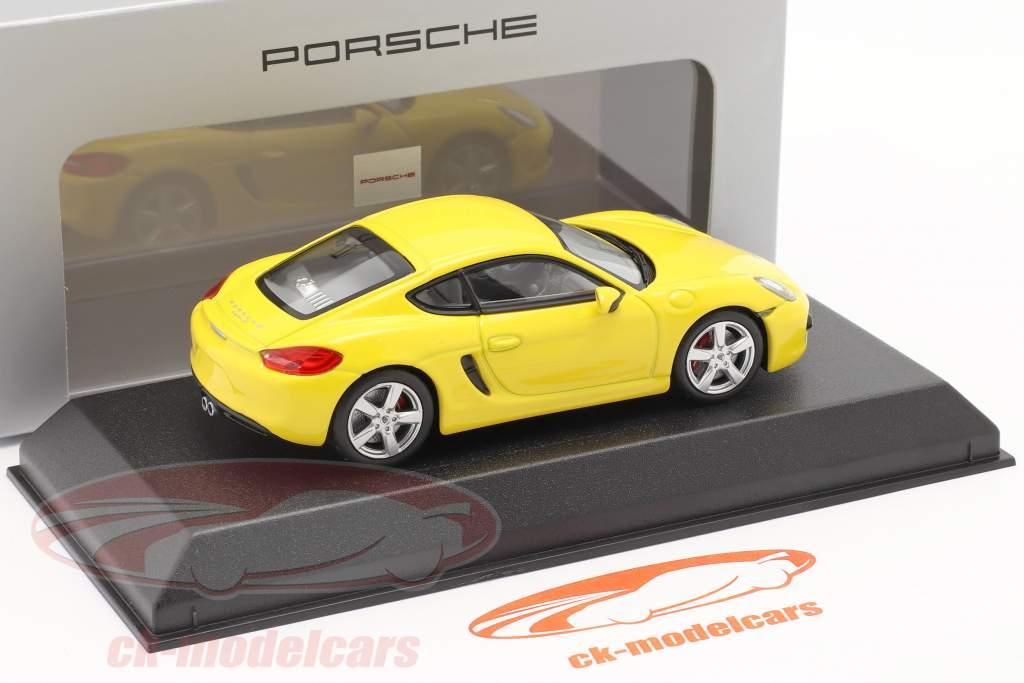 Porsche Cayman S 981 año de construcción 2013 amarillo 1:43 Norev
