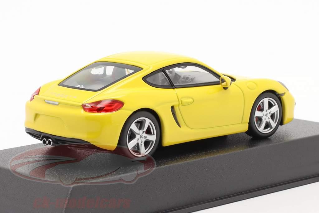 Porsche Cayman S 981 année de construction 2013 jaune 1:43 Norev