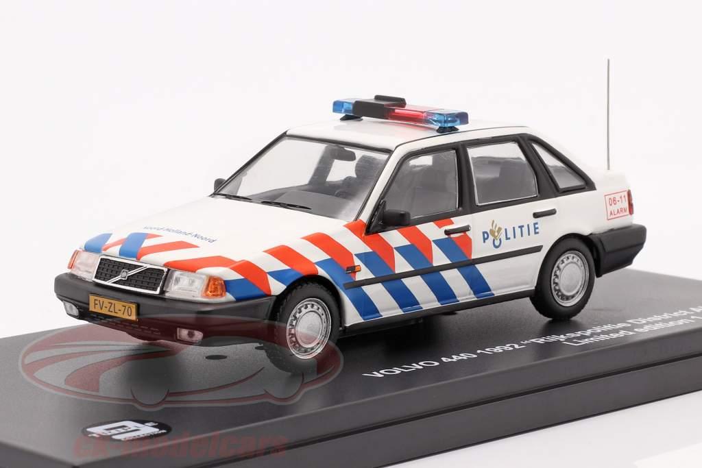Volvo 440 Rijkspolitie Alkmaar Year 1992 white 1:43 Triple9