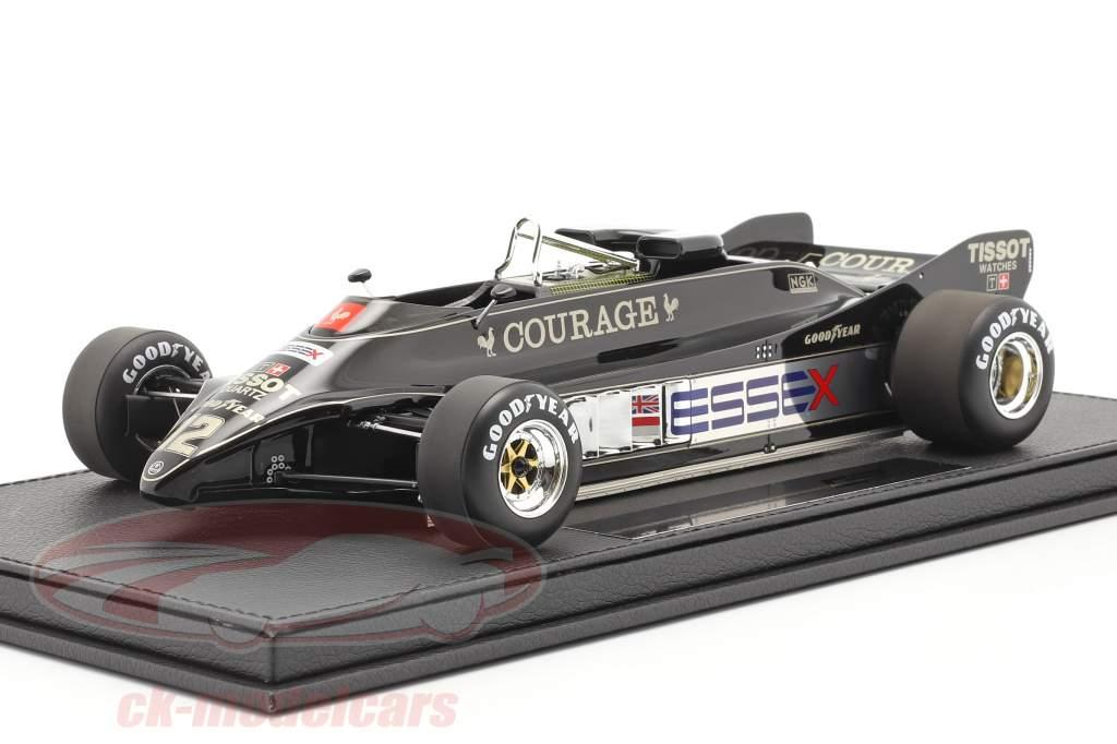 Nigel Mansell Lotus 88B #12 formule 1 1981 Avec Vitrine 1:18 GP Replicas