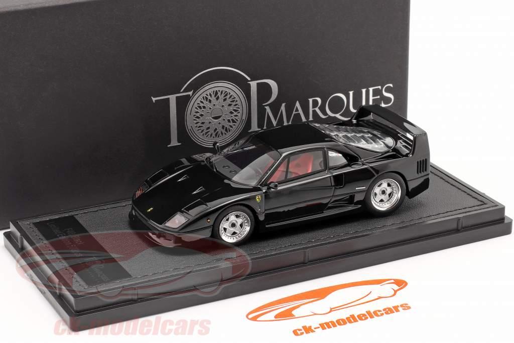 Ferrari F40 Anno di costruzione 1987 nero 1:43 TopMarques