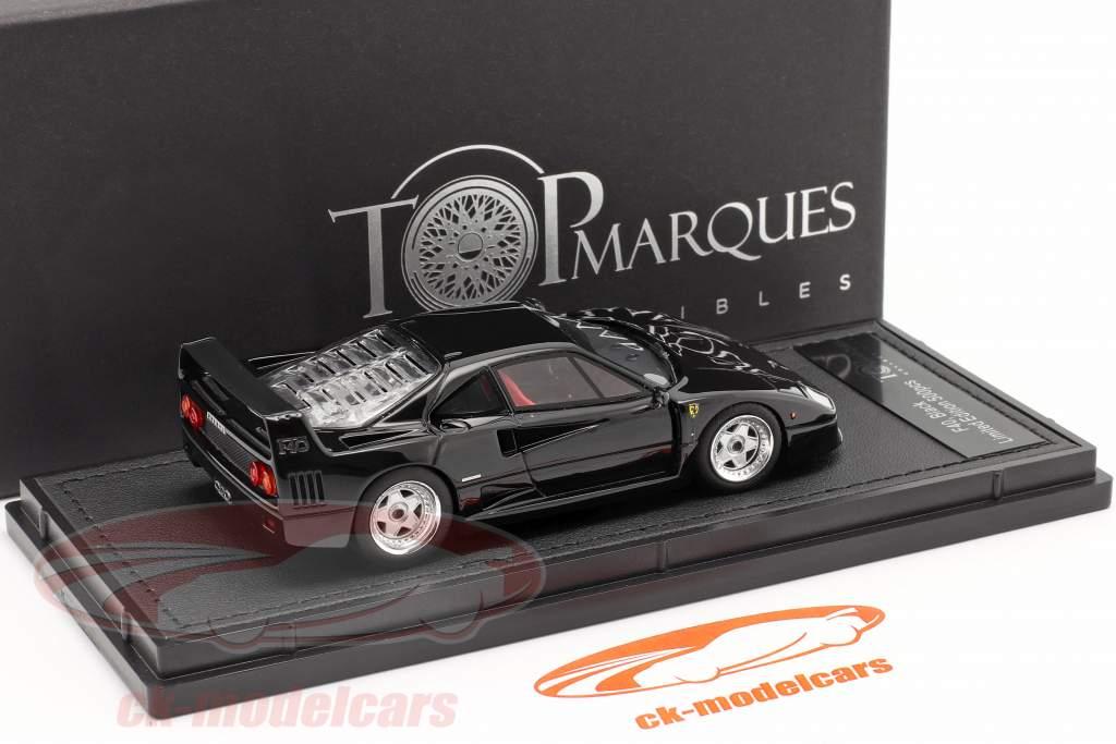 Ferrari F40 year 1987 black 1:43 TopMarques
