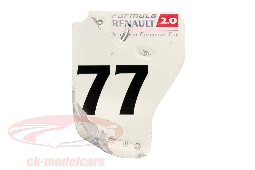 Original Heckflügel Endplatte #77 Formel Renault 2.0 / ca. 36 x 47 cm