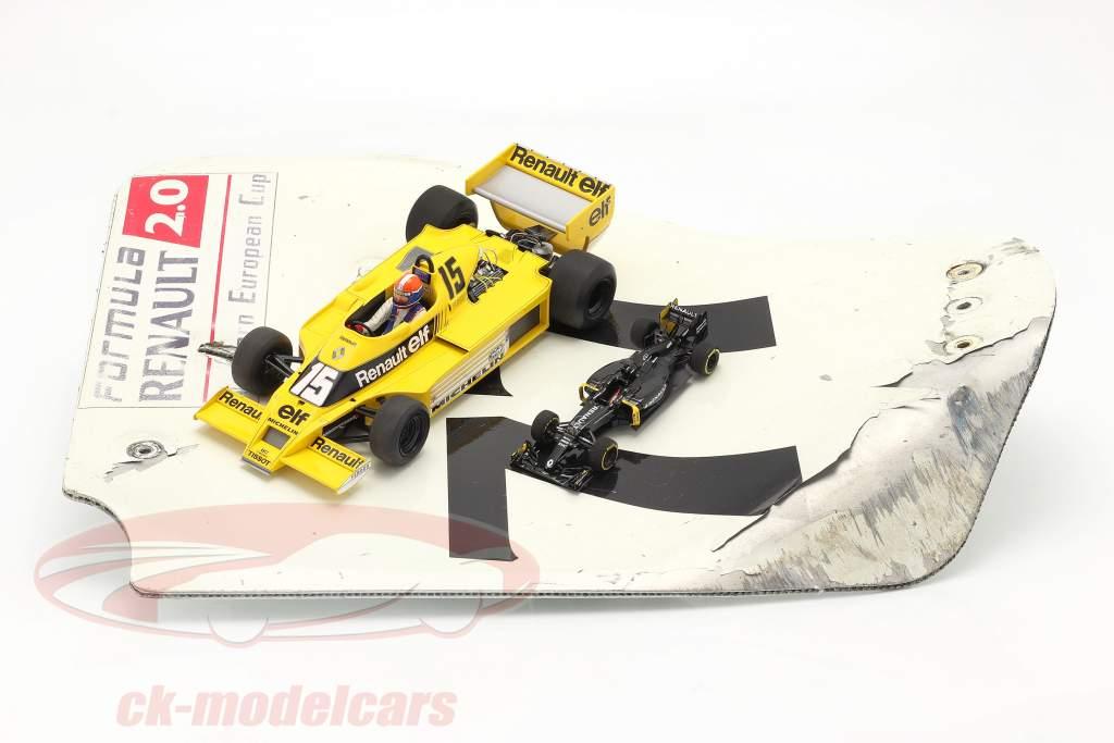 origineel Achtervleugel Eindplaat #77 formule Renault 2.0 / ca. 36 x 47 cm