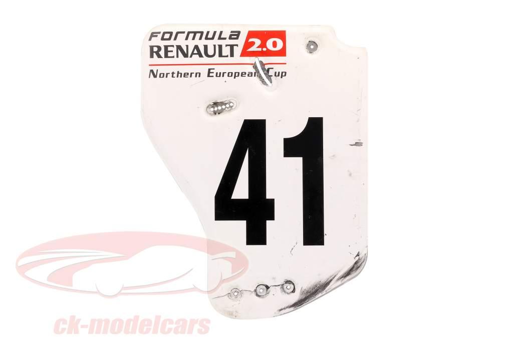 Original rear wing end plate #41 formula Renault 2.0 / ca. 36 x 47 cm