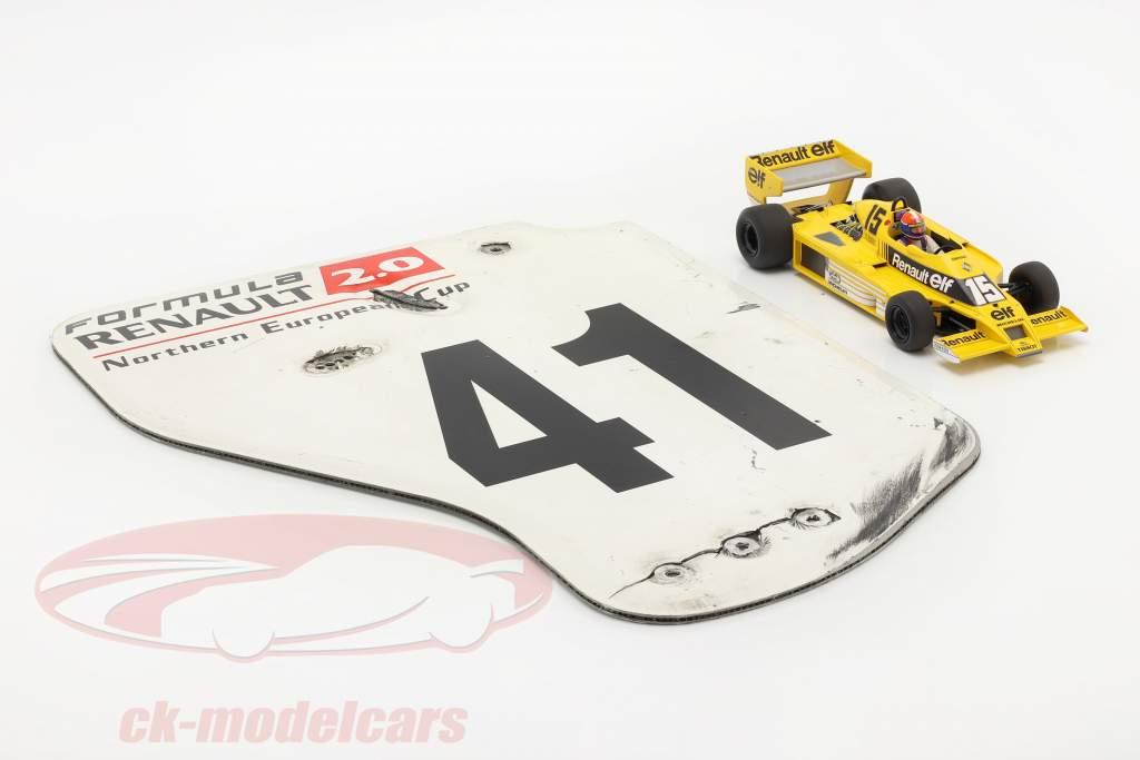 originale Ala posteriore Piastra terminale #41 formula Renault 2.0 / ca. 36 x 47 cm