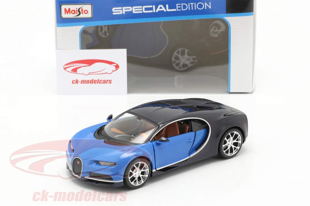 Bugatti Chiron année 2016 bleu 1:24 Maisto