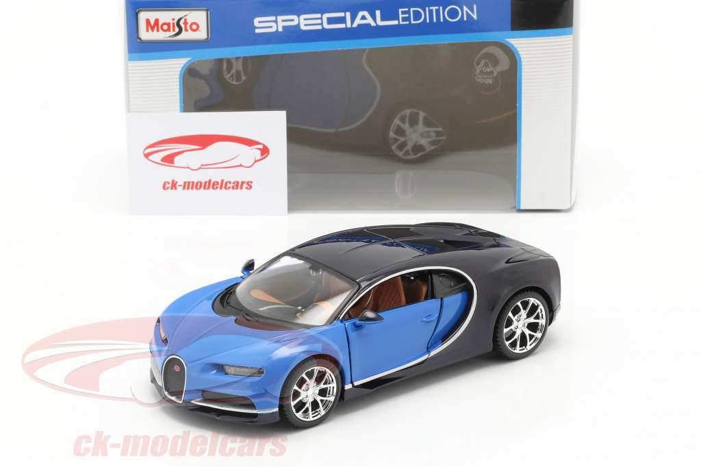 Bugatti Chiron Year 2016 blue 1:24 Maisto
