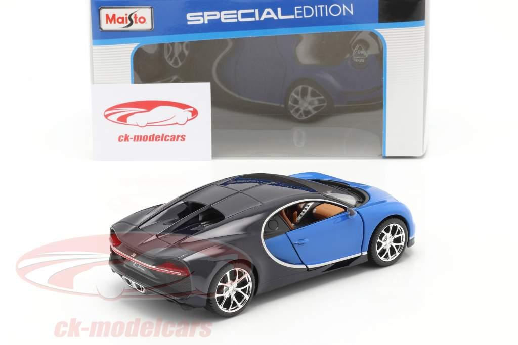 Bugatti Chiron Baujahr 2016 blau 1:24 Maisto