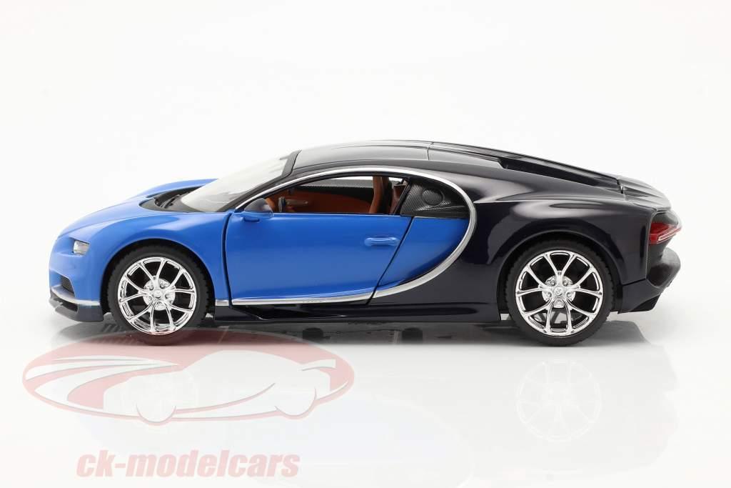 Bugatti Chiron år 2016 blå 1:24 Maisto
