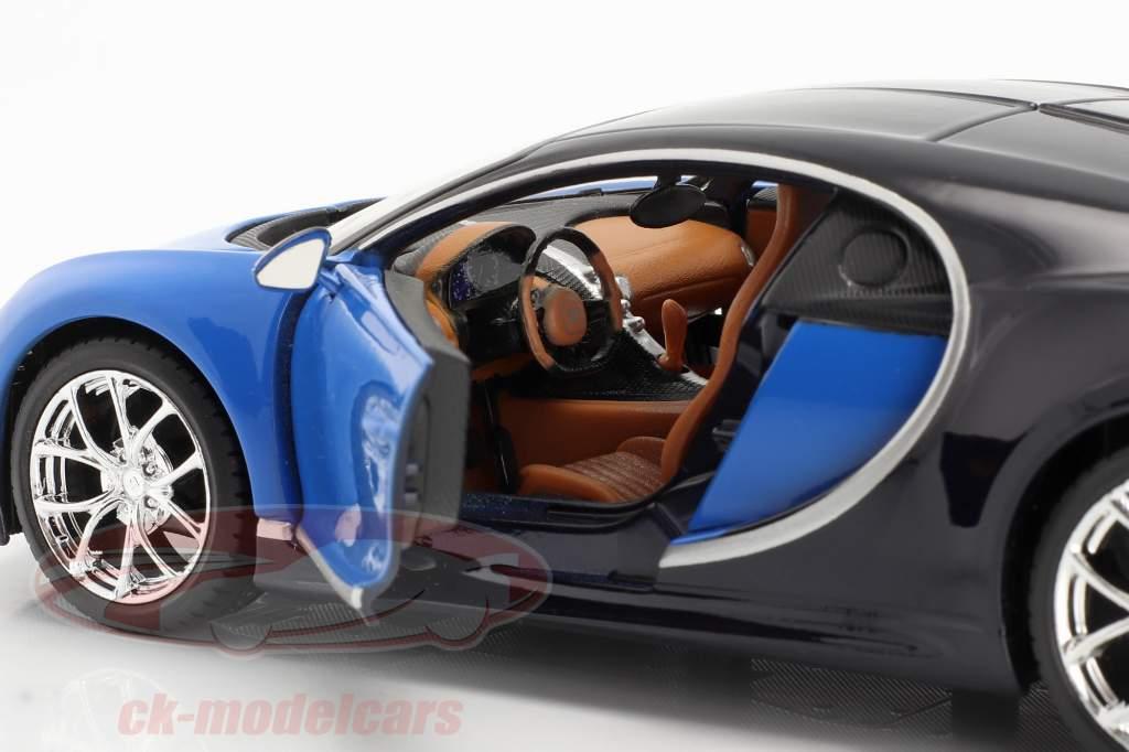 Bugatti Chiron jaar 2016 blauw 1:24 Maisto