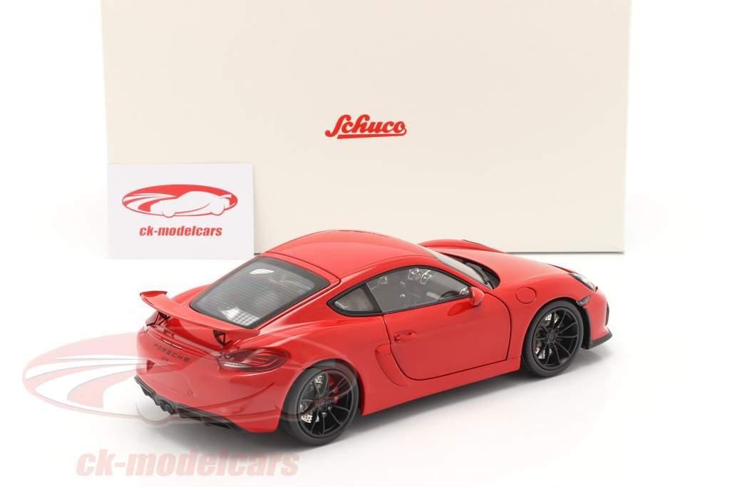 Porsche Cayman GT4 (981c) 建設年 2015 ガードレッド 1:18 Schuco