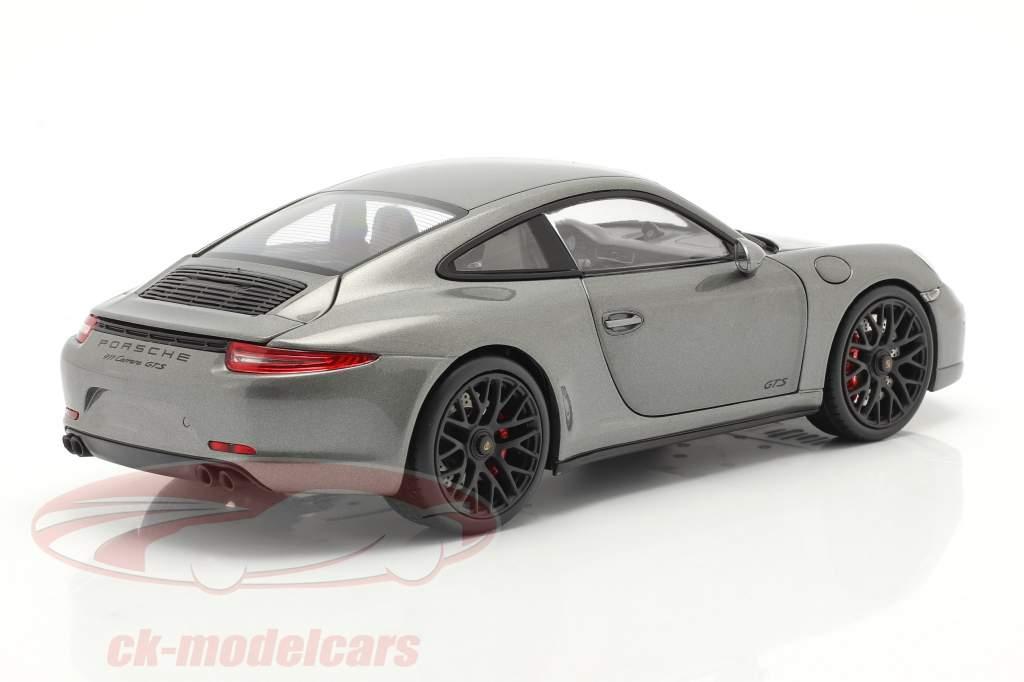 Porsche 911 (991) Carrera GTS Coupe Año de construcción 2014 gris ágata 1:18 Schuco