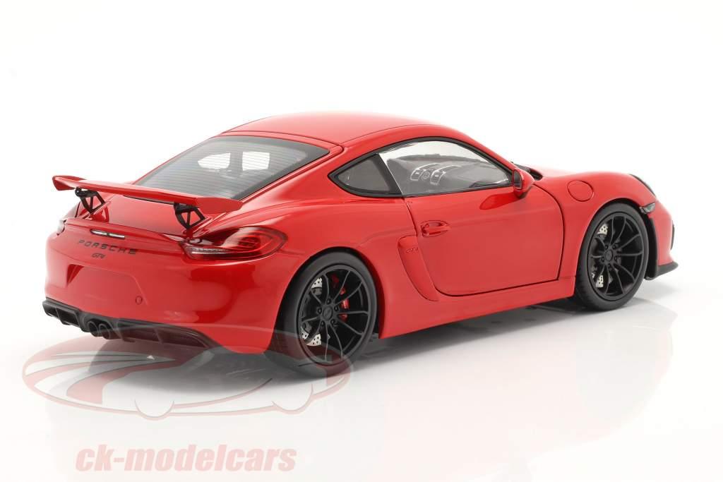 Porsche Cayman GT4 (981c) Byggeår 2015 Vagter rød 1:18 Schuco