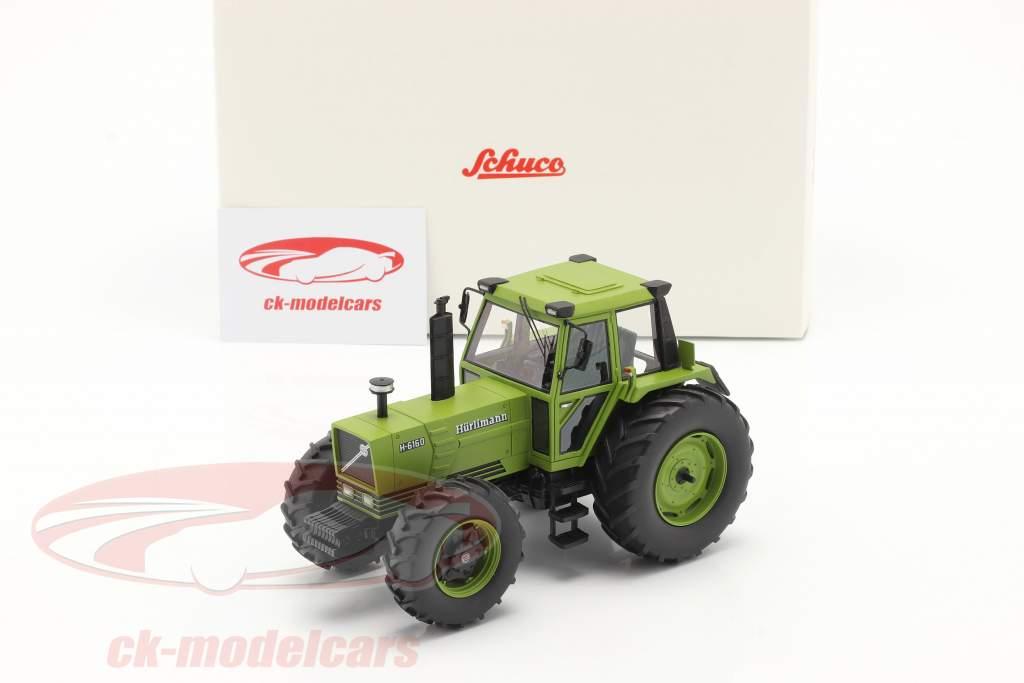 Hürlimann H-6160 trator Ano de construção 1979 verde 1:32 Schuco