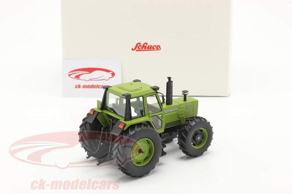 Hürlimann H-6160 tractor Año de construcción 1979 verde 1:32 Schuco
