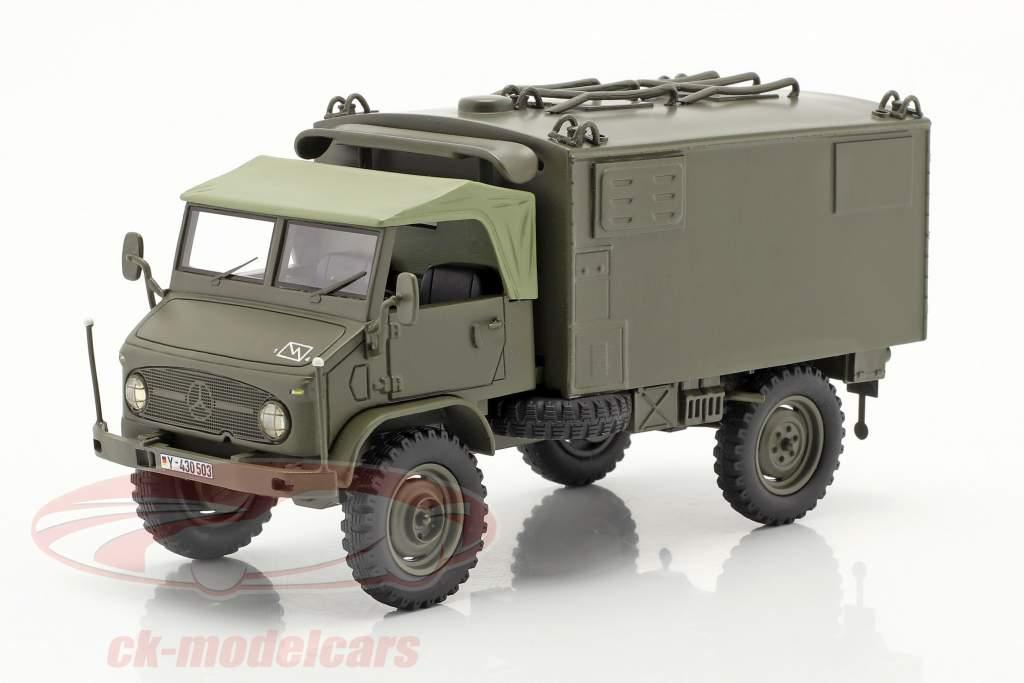 Mercedes Benz Unimog 404 S box van Military vehicle olive 1:35 Schuco