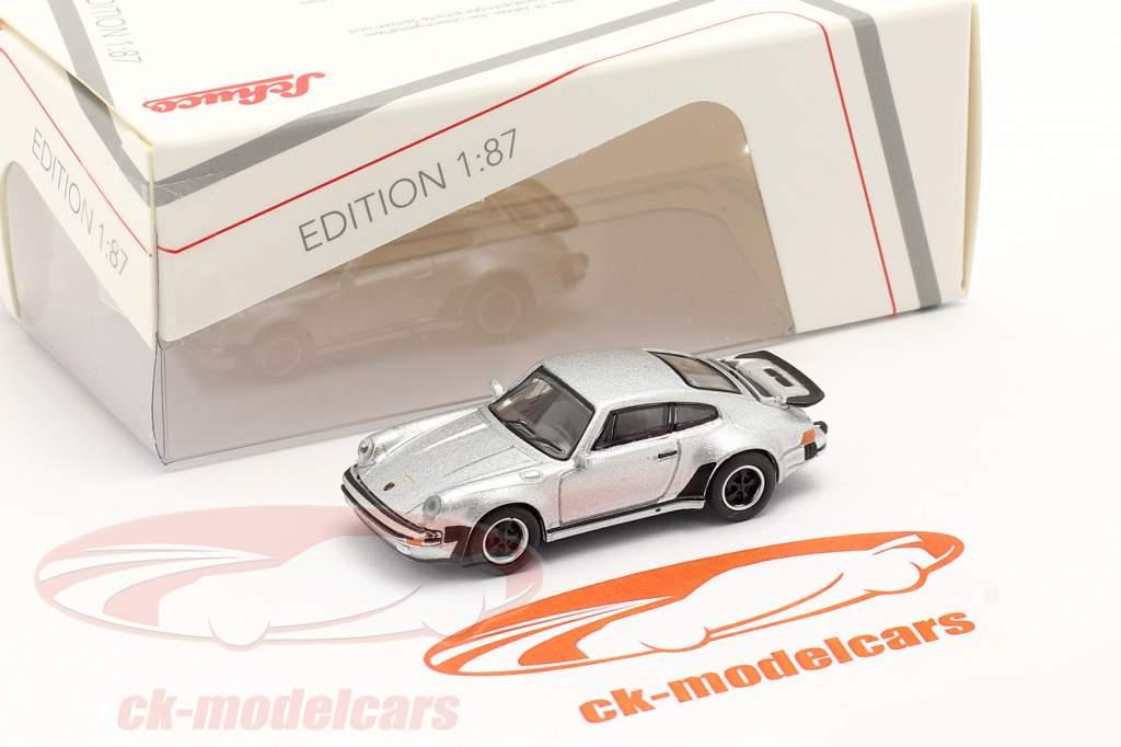 Porsche 911 (930) Turbo silber metallic 1:87 Schuco