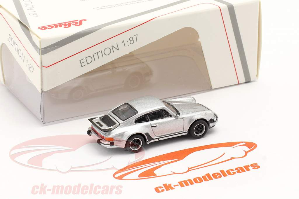 Porsche 911 (930) Turbo sølv metallisk 1:87 Schuco