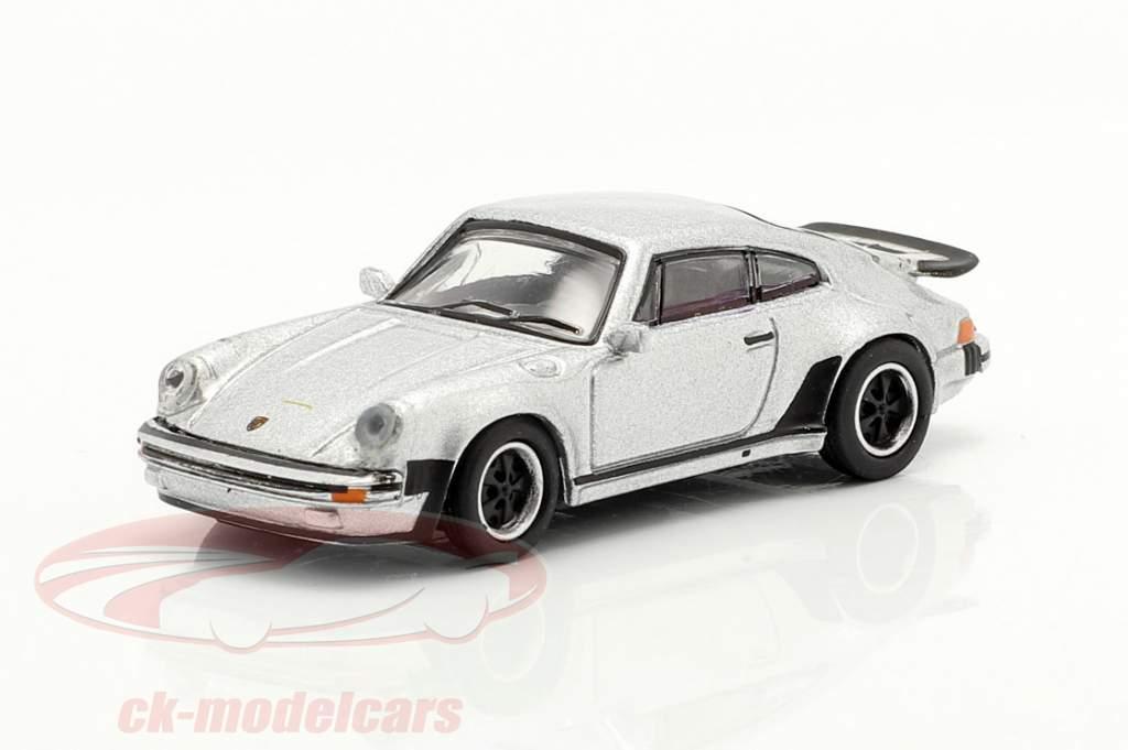 Porsche 911 (930) Turbo plata metálico 1:87 Schuco