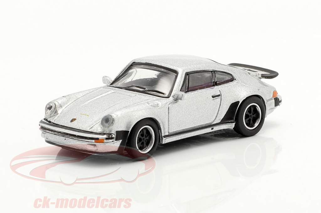 Porsche 911 (930) Turbo prata metálico 1:87 Schuco