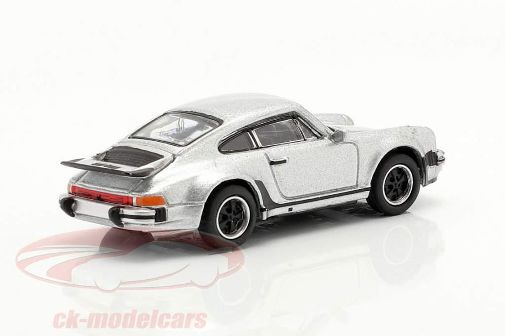 Porsche 911 (930) Turbo argento metallico 1:87 Schuco