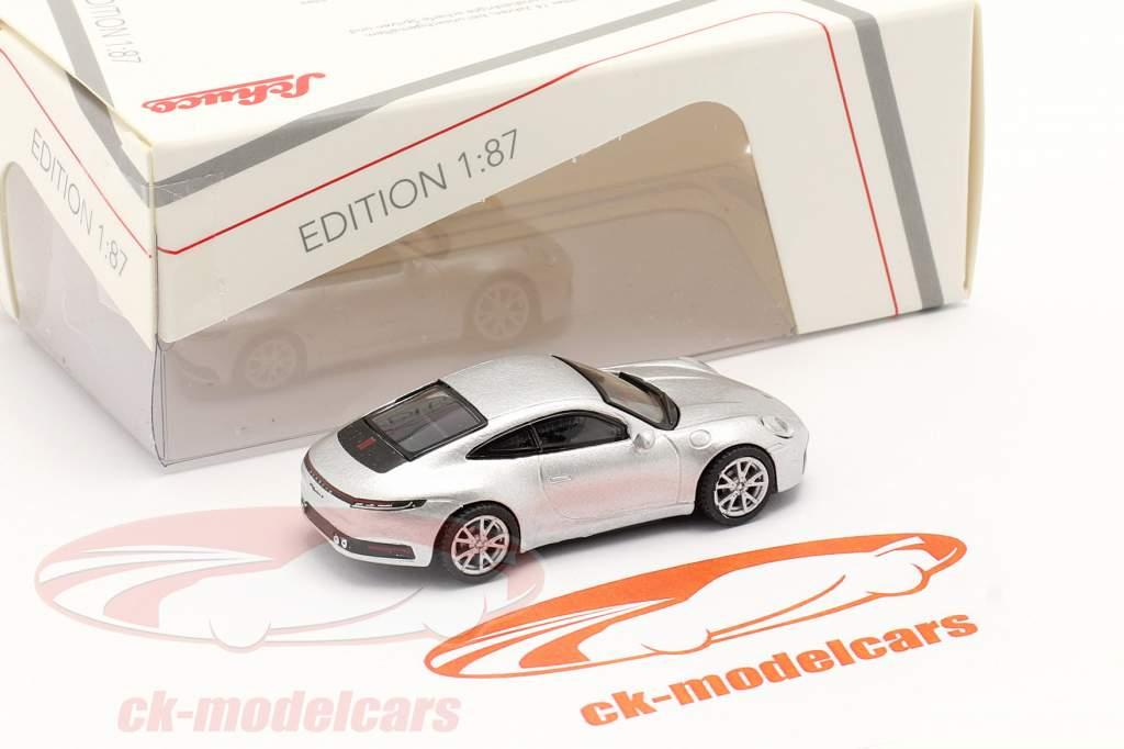 Porsche 911 (992) Carrera S Coupe argent métallique 1:87 Schuco