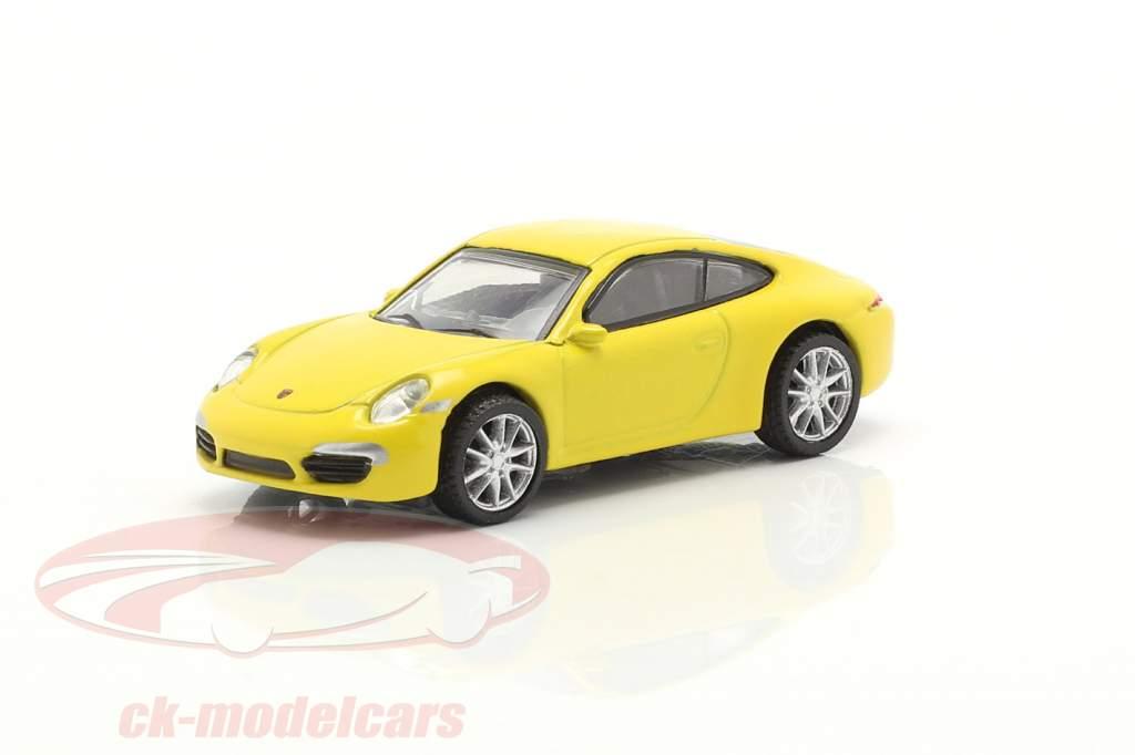 Porsche 911 (991) Carrera S Coupe amarelo 1:87 Schuco