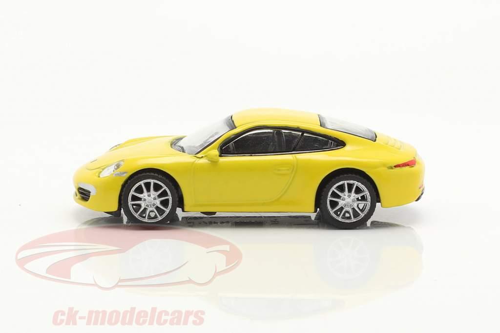 Porsche 911 (991) Carrera S Coupe jaune 1:87 Schuco
