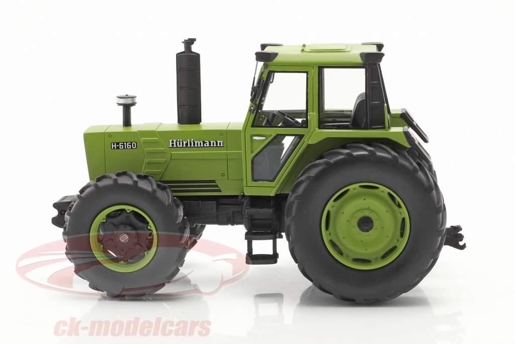 Hürlimann H-6160 traktor Byggeår 1979 grøn 1:32 Schuco