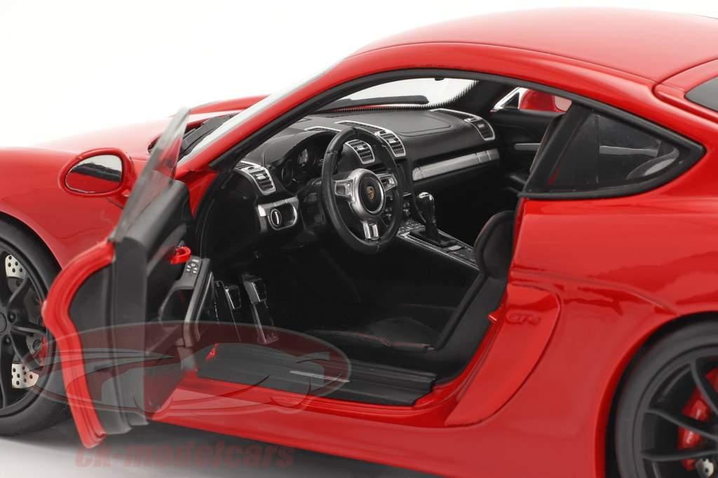 Porsche Cayman GT4 (981c) year 2015 guards red 1:18 Schuco