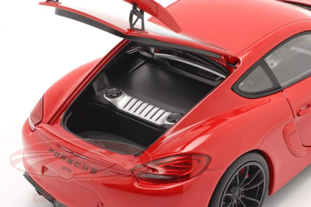 Porsche Cayman GT4 (981c) Bouwjaar 2015 Guards Red 1:18 Schuco