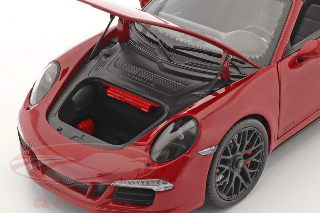 Porsche 911 (991) Carrera 4 GTS Targa Byggeår 2014 karmin 1:18 Schuco