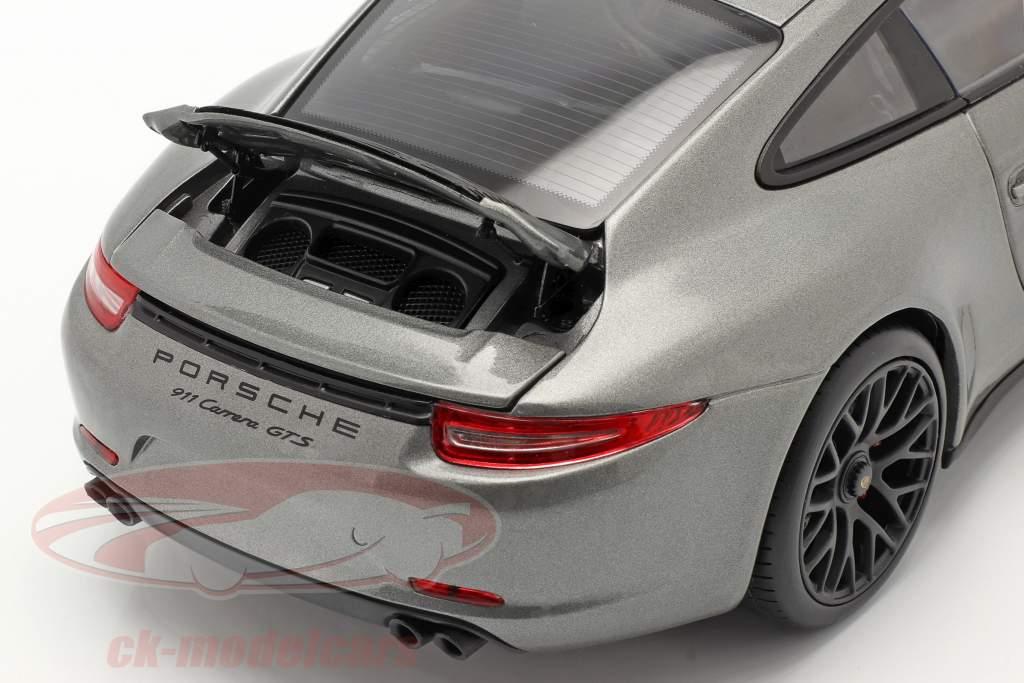 Porsche 911 (991) Carrera GTS Coupe Bouwjaar 2014 agaat grijs 1:18 Schuco