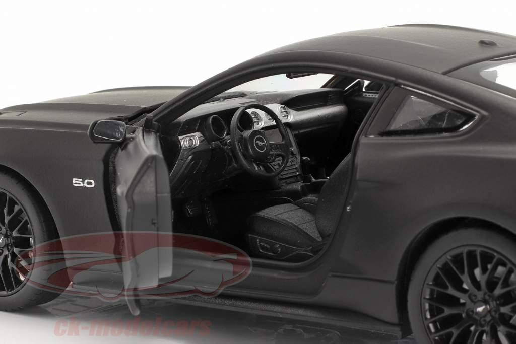 Ford Mustang GT Baujahr 2015 matt schwarz 1:24 Welly