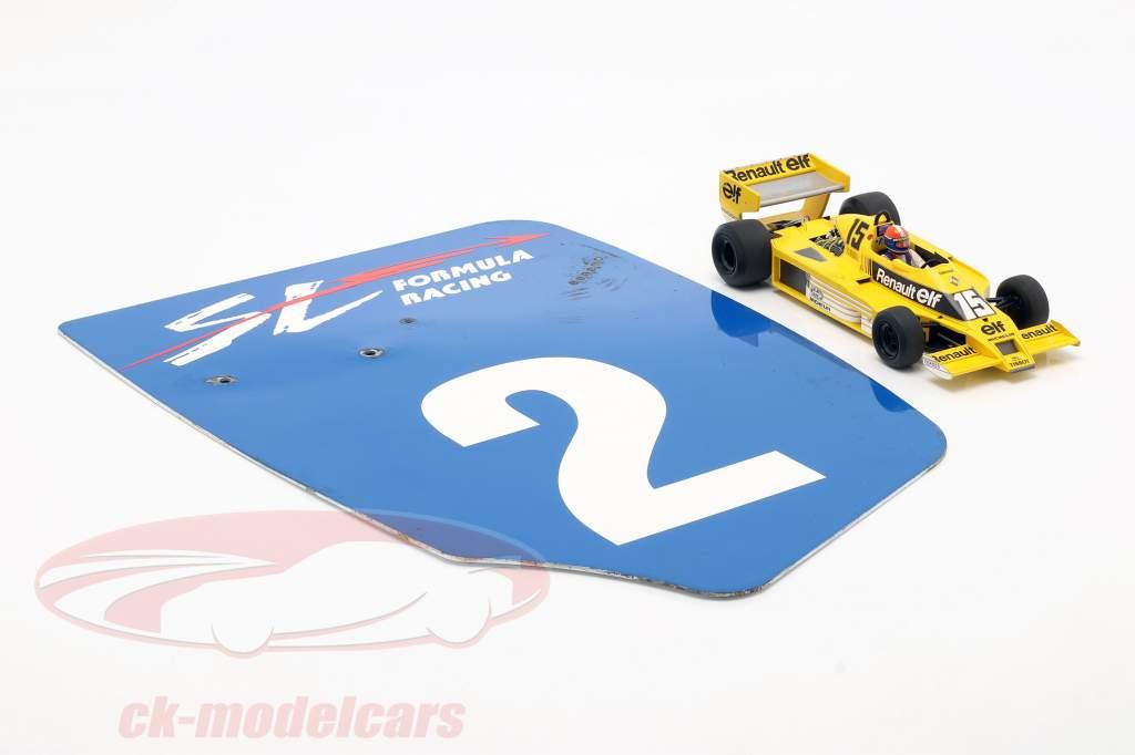original Ala trasera Placa final #2 SL Formula Racing / ca. 32 x 46,5 cm