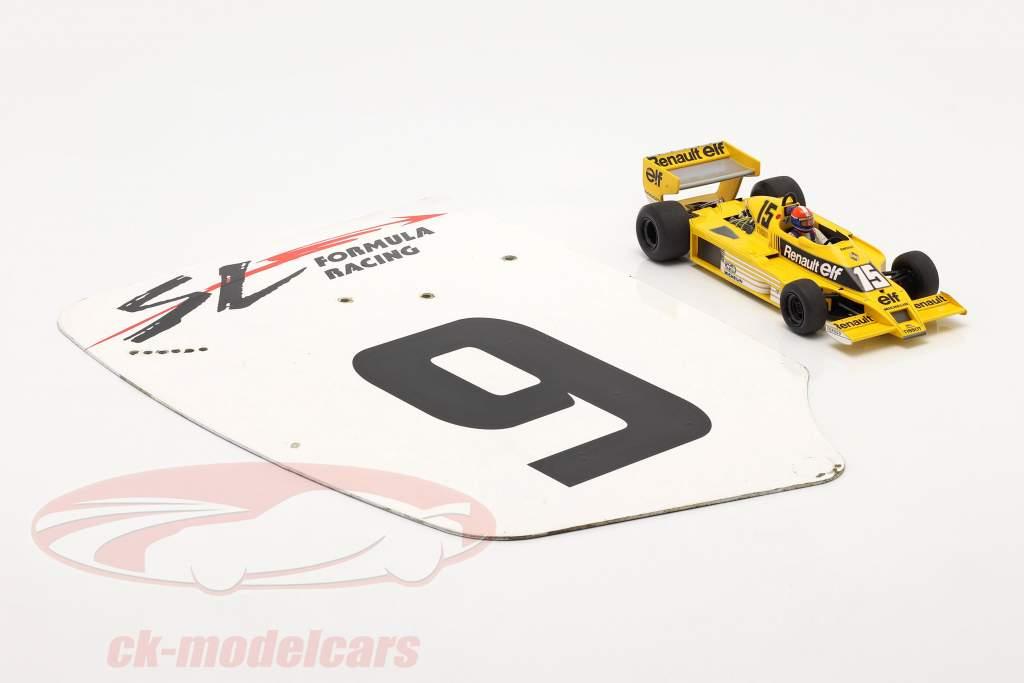 original Ala trasera Placa final #9 SL Formula Racing / ca. 32 x 46,5 cm