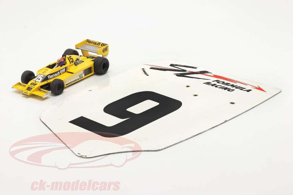 original L'aile arrière Plaque d'extrémité #9 SL Formula Racing / ca. 32 x 46,5 cm