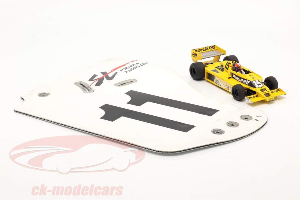 origineel Achtervleugel Eindplaat #11 SL Formula Racing / ca. 36 x 47 cm