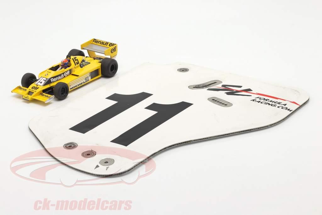 original Asa traseira Placa final #11 SL Formula Racing / ca. 36 x 47 cm